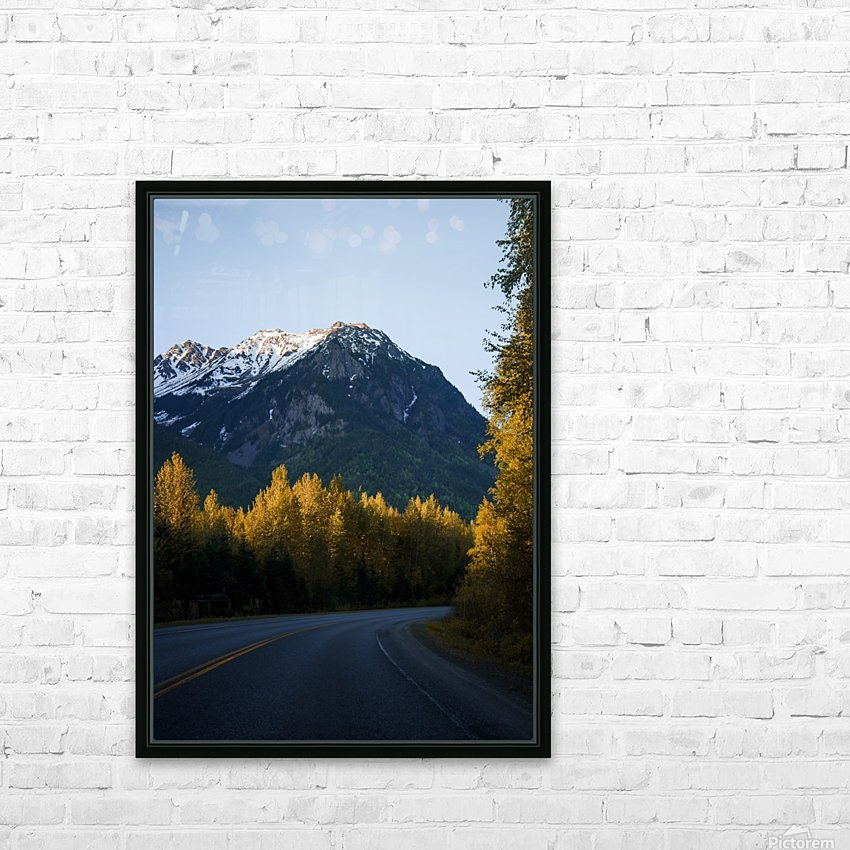 Scenic Drive HD Sublimation Metal print with Decorating Float Frame (BOX)
