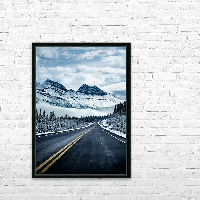 Icy Roads HD Sublimation Metal print with Decorating Float Frame (BOX)
