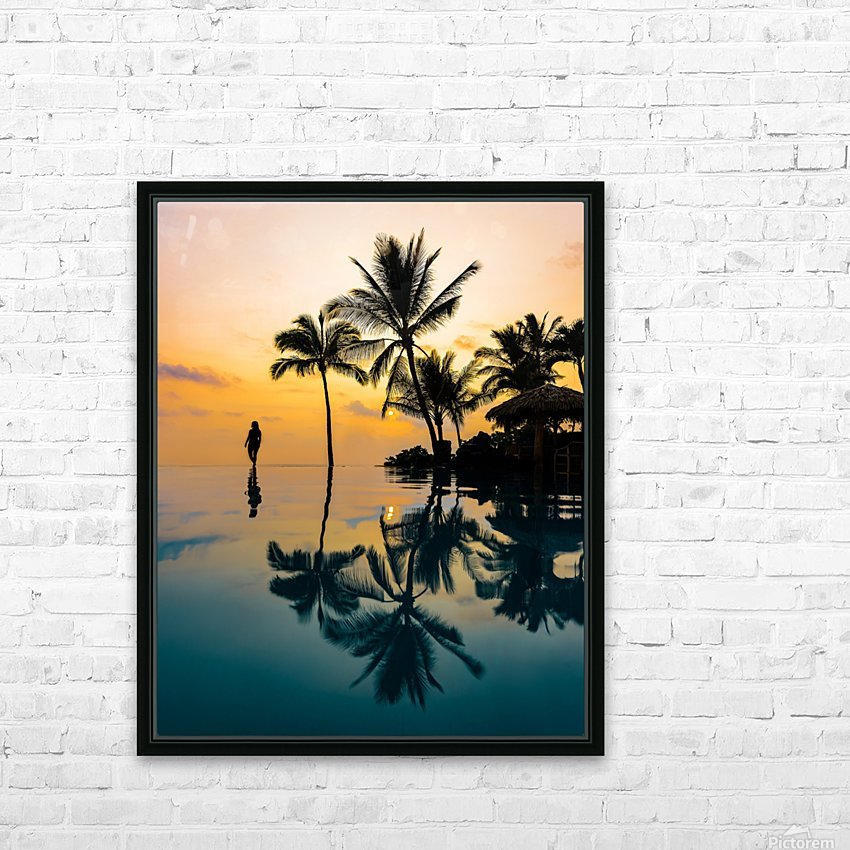 Relaxation Sunset HD Sublimation Metal print with Decorating Float Frame (BOX)