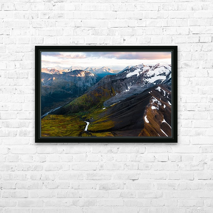 Mountains and Valleys HD Sublimation Metal print with Decorating Float Frame (BOX)