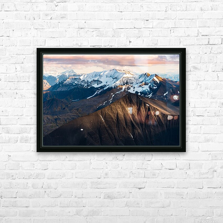 Alaskan Mountains HD Sublimation Metal print with Decorating Float Frame (BOX)