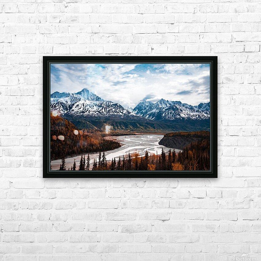 Autumn Landscape HD sublimation métal imprimé avec décoration flotteur cadre (boîte)