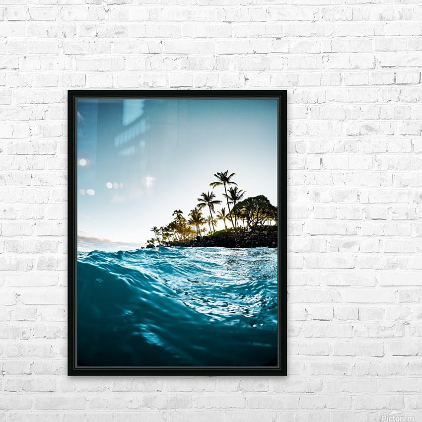 Blue Morning HD Sublimation Metal print with Decorating Float Frame (BOX)