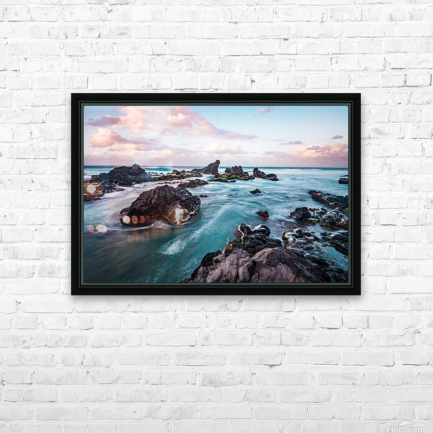Pastel Waters HD Sublimation Metal print with Decorating Float Frame (BOX)