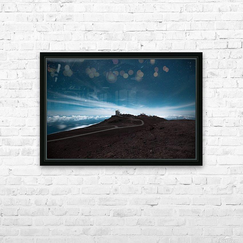 Haleakala at Night HD Sublimation Metal print with Decorating Float Frame (BOX)
