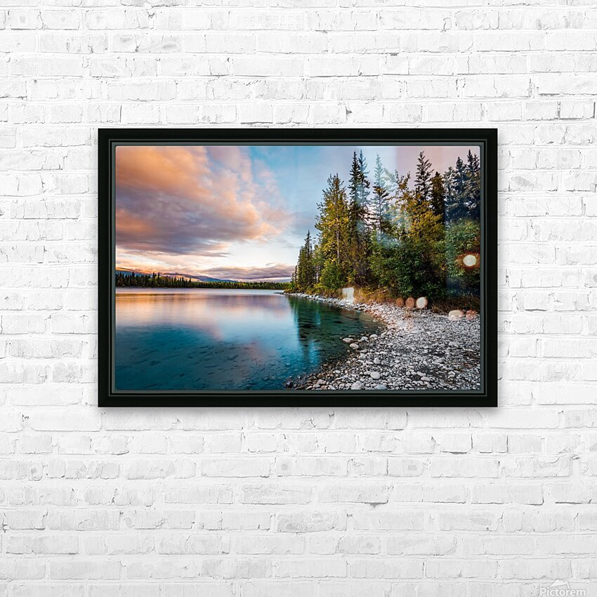 Boya Lake Sunset HD Sublimation Metal print with Decorating Float Frame (BOX)