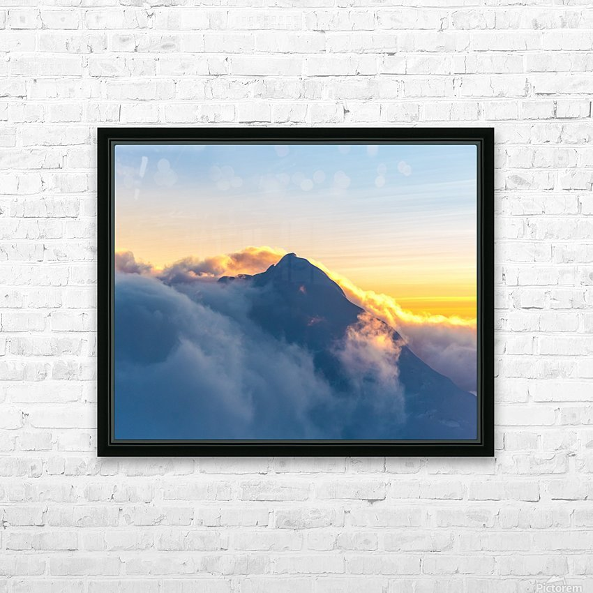 Alpine Glow HD Sublimation Metal print with Decorating Float Frame (BOX)