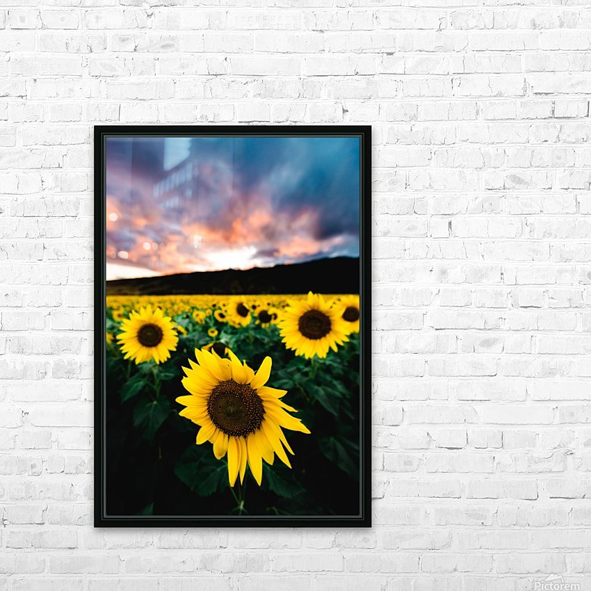 Sunflower Sunset HD Sublimation Metal print with Decorating Float Frame (BOX)