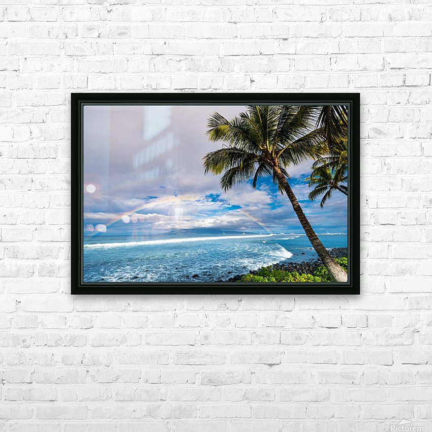 Hawaiian Landscape HD Sublimation Metal print with Decorating Float Frame (BOX)