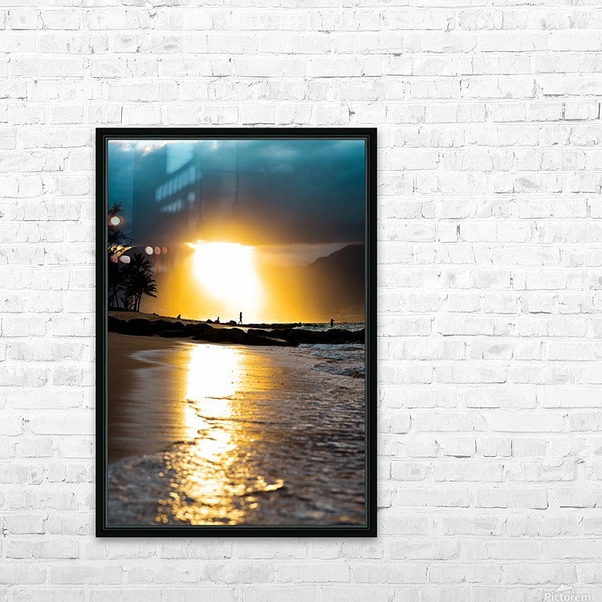 Tropical Sunset HD Sublimation Metal print with Decorating Float Frame (BOX)