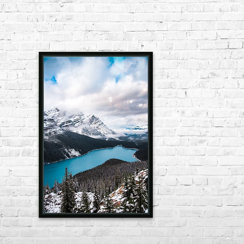 Wintry Peyto Lake HD Sublimation Metal print with Decorating Float Frame (BOX)
