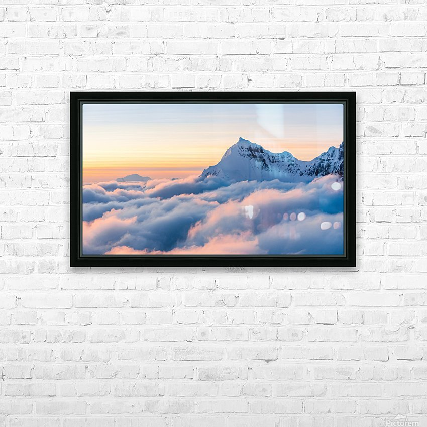 Above the Clouds HD Sublimation Metal print with Decorating Float Frame (BOX)