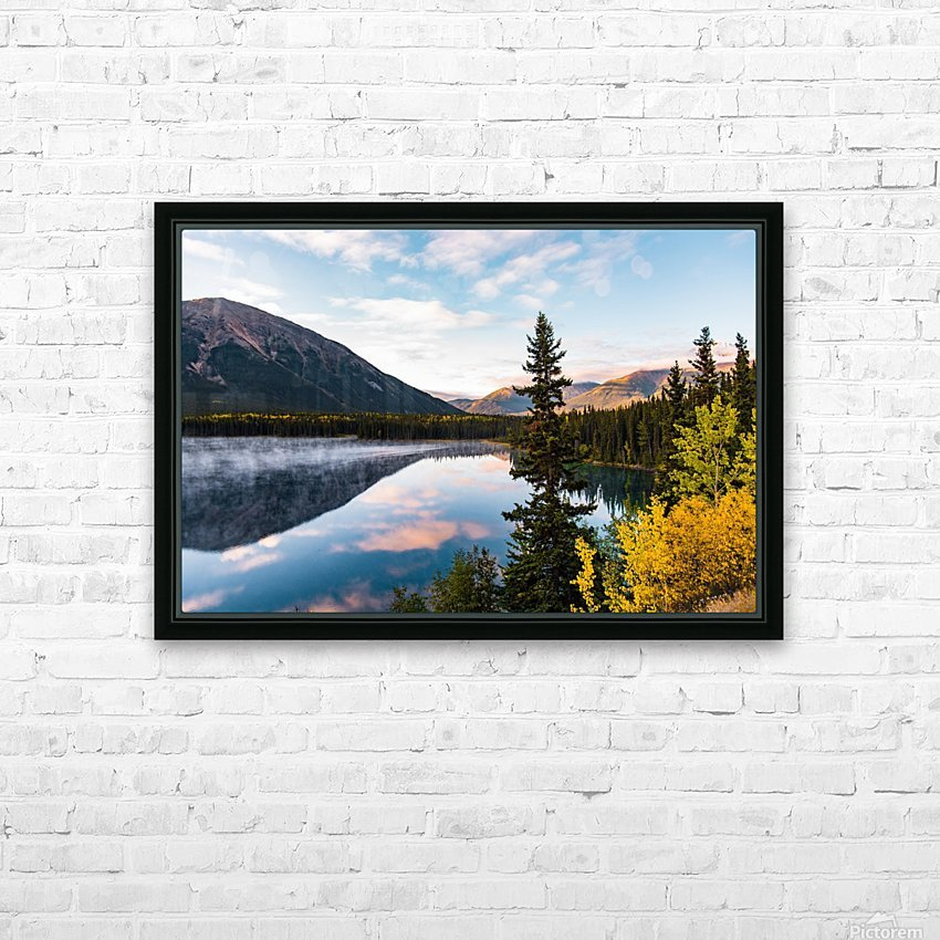 Mountains and Water HD Sublimation Metal print with Decorating Float Frame (BOX)