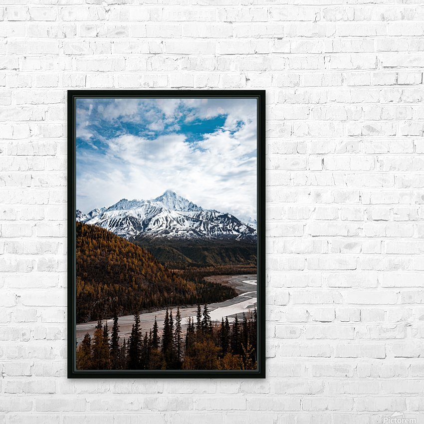 Alaskan Autumn HD Sublimation Metal print with Decorating Float Frame (BOX)