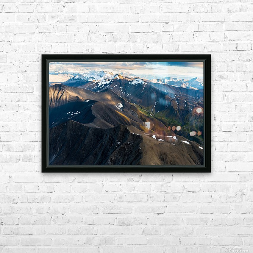 Alaskan Landscape HD Sublimation Metal print with Decorating Float Frame (BOX)