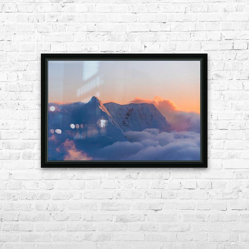 Pastel Peak HD Sublimation Metal print with Decorating Float Frame (BOX)