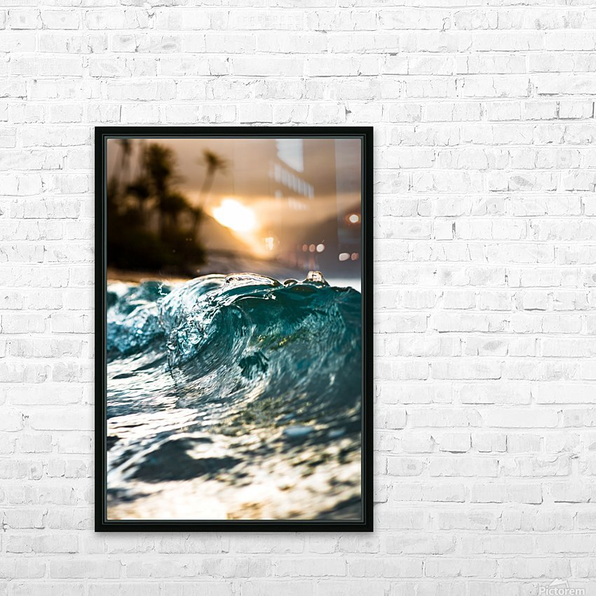 Glassy Wave HD Sublimation Metal print with Decorating Float Frame (BOX)