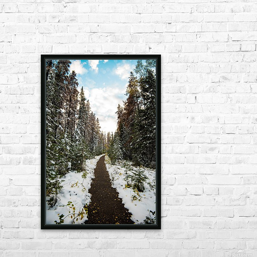Winter Path HD Sublimation Metal print with Decorating Float Frame (BOX)