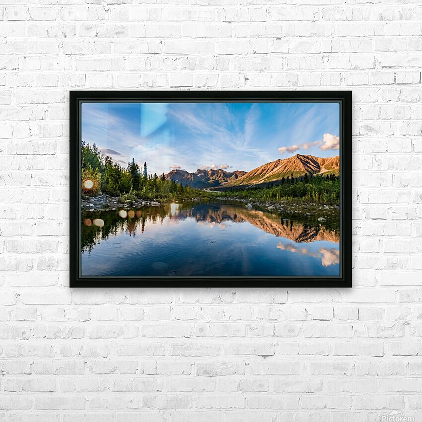 Alaskan Reflection HD Sublimation Metal print with Decorating Float Frame (BOX)
