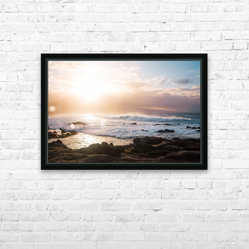 Colorful Waves HD Sublimation Metal print with Decorating Float Frame (BOX)
