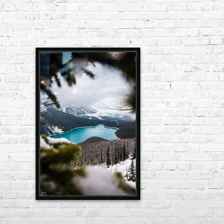 Through the Trees HD Sublimation Metal print with Decorating Float Frame (BOX)