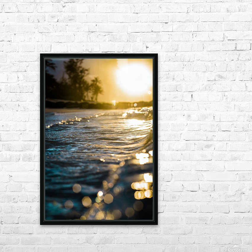 Glistening Waters HD Sublimation Metal print with Decorating Float Frame (BOX)