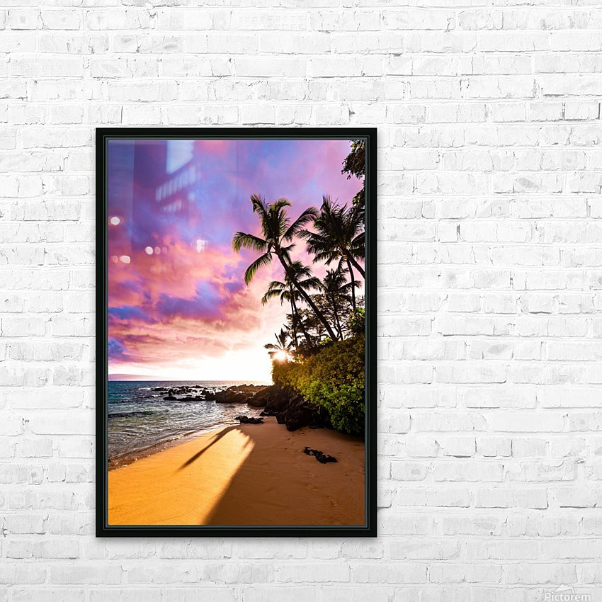 Secret Beach HD Sublimation Metal print with Decorating Float Frame (BOX)