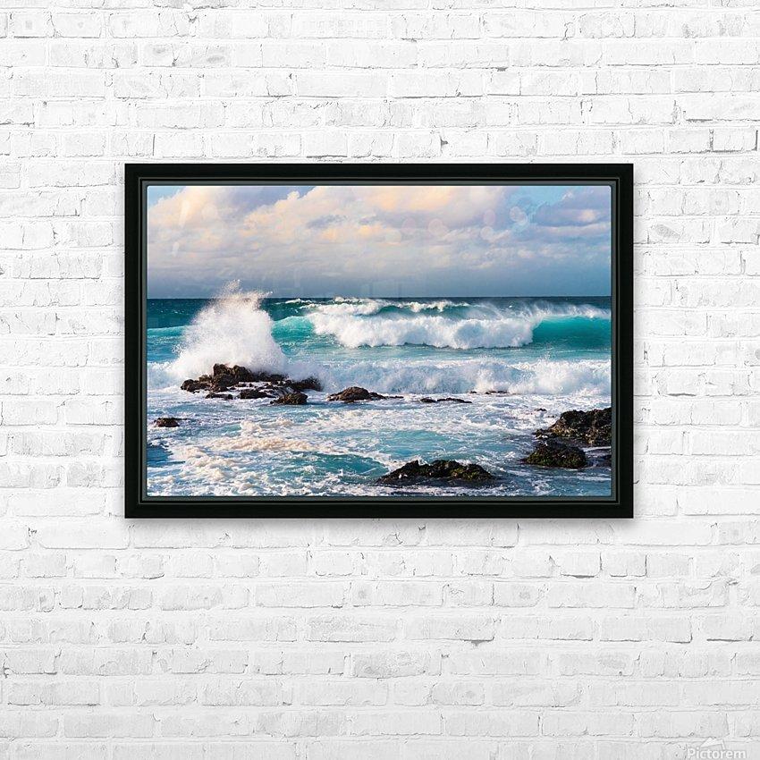 Blue Crash HD Sublimation Metal print with Decorating Float Frame (BOX)