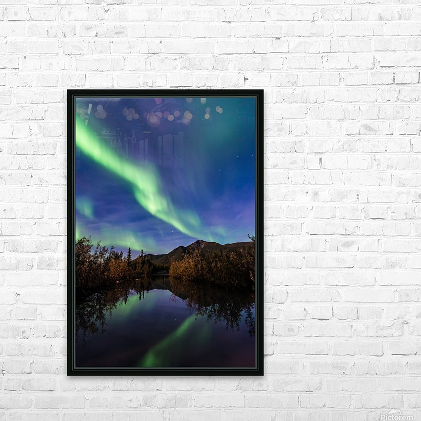 Northern Lights Reflection HD Sublimation Metal print with Decorating Float Frame (BOX)