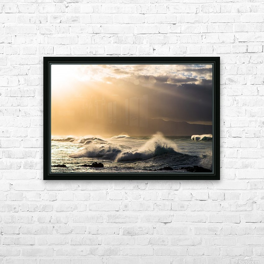 Light in Darkness HD Sublimation Metal print with Decorating Float Frame (BOX)
