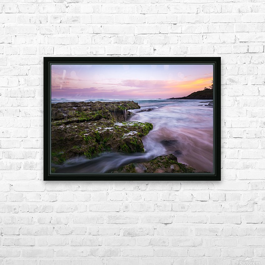 Colorful Sunrise HD Sublimation Metal print with Decorating Float Frame (BOX)