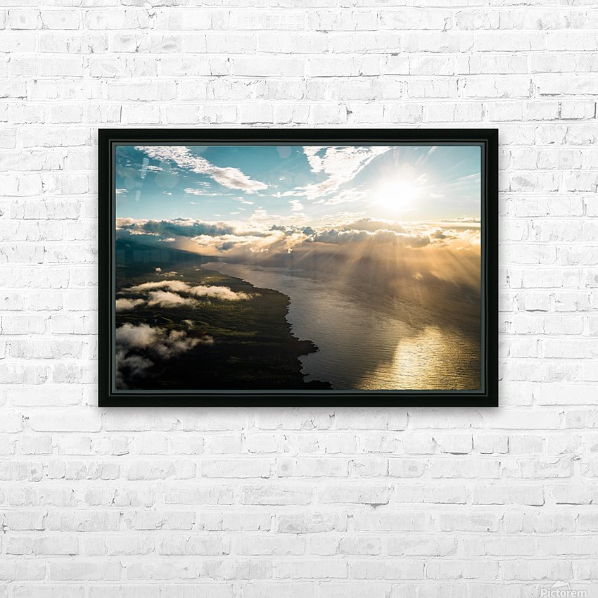Maui From Above HD Sublimation Metal print with Decorating Float Frame (BOX)