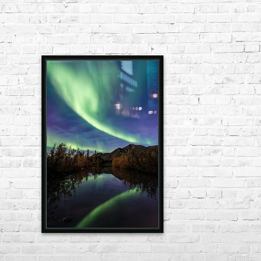 Aurora Reflections HD Sublimation Metal print with Decorating Float Frame (BOX)