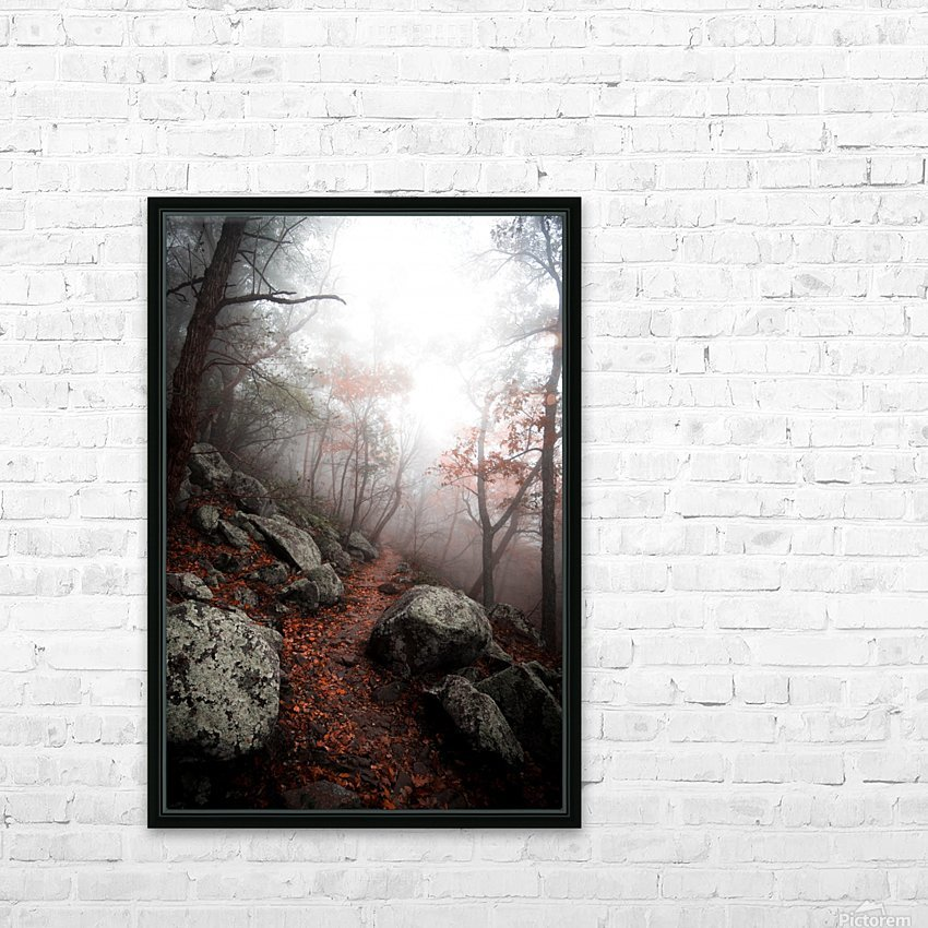 Moody Forest HD Sublimation Metal print with Decorating Float Frame (BOX)