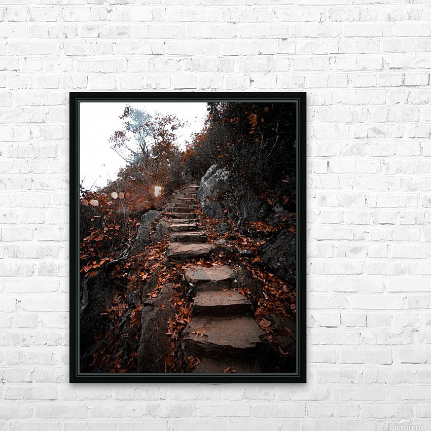 Autumn Path HD Sublimation Metal print with Decorating Float Frame (BOX)