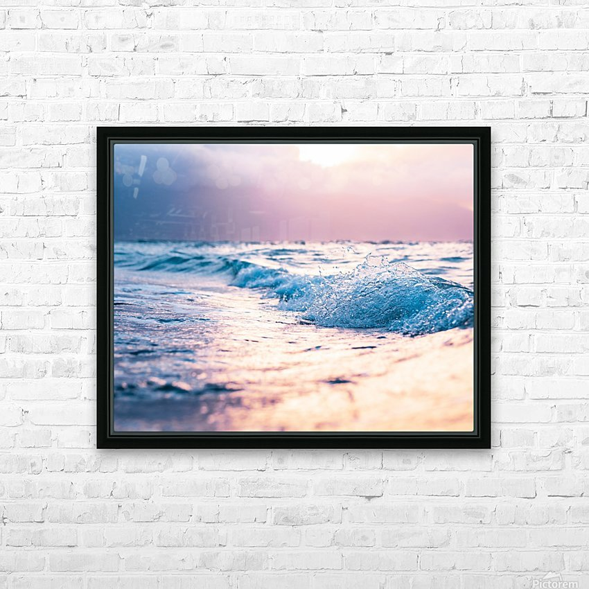 Pastel Waves HD Sublimation Metal print with Decorating Float Frame (BOX)