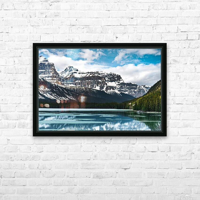 Winter Lake HD Sublimation Metal print with Decorating Float Frame (BOX)
