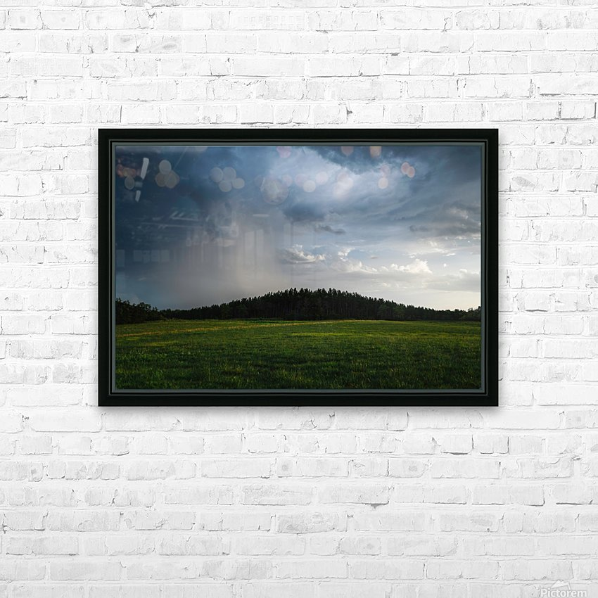 Evening Rain HD Sublimation Metal print with Decorating Float Frame (BOX)