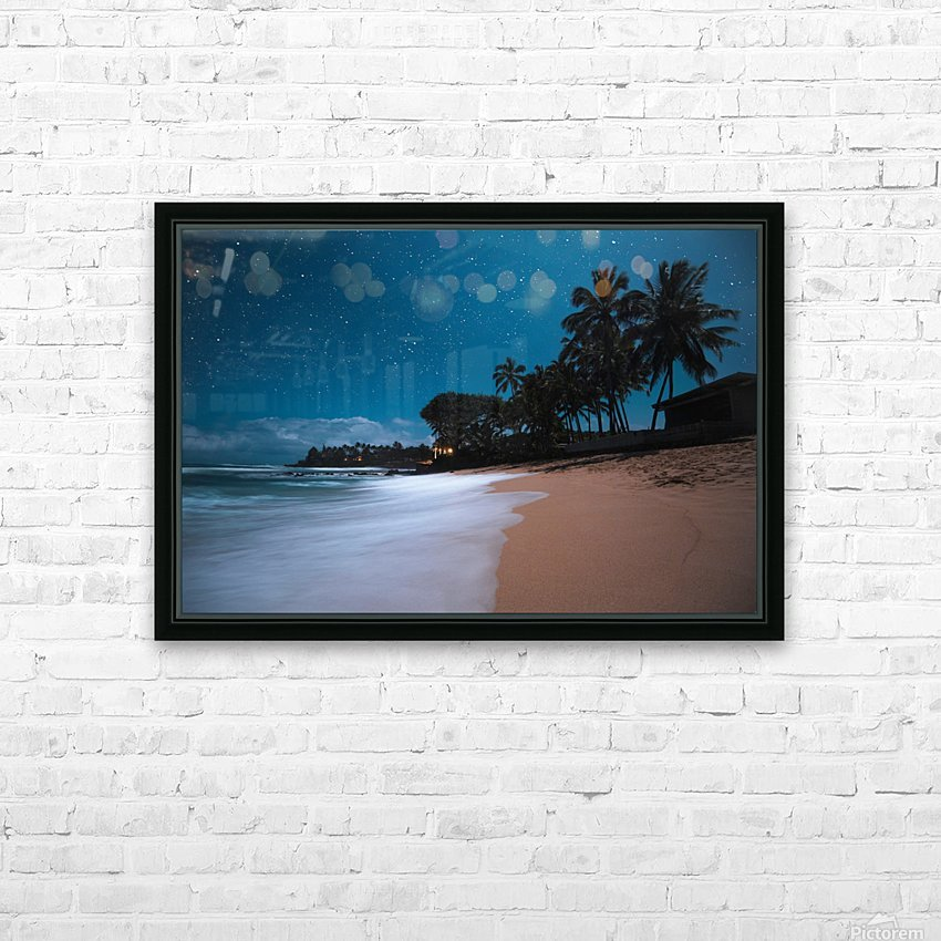 Tropical Night HD Sublimation Metal print with Decorating Float Frame (BOX)
