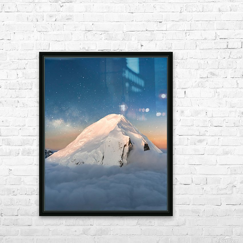 Starry Peak HD Sublimation Metal print with Decorating Float Frame (BOX)