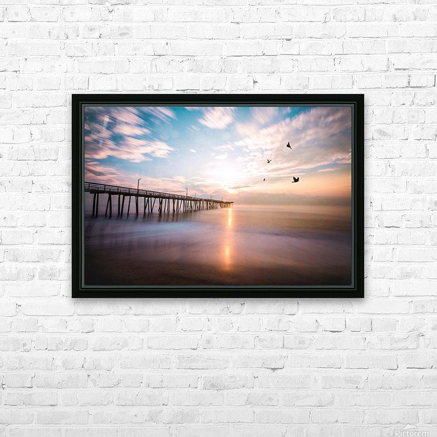 VA Beach Sunrise HD Sublimation Metal print with Decorating Float Frame (BOX)
