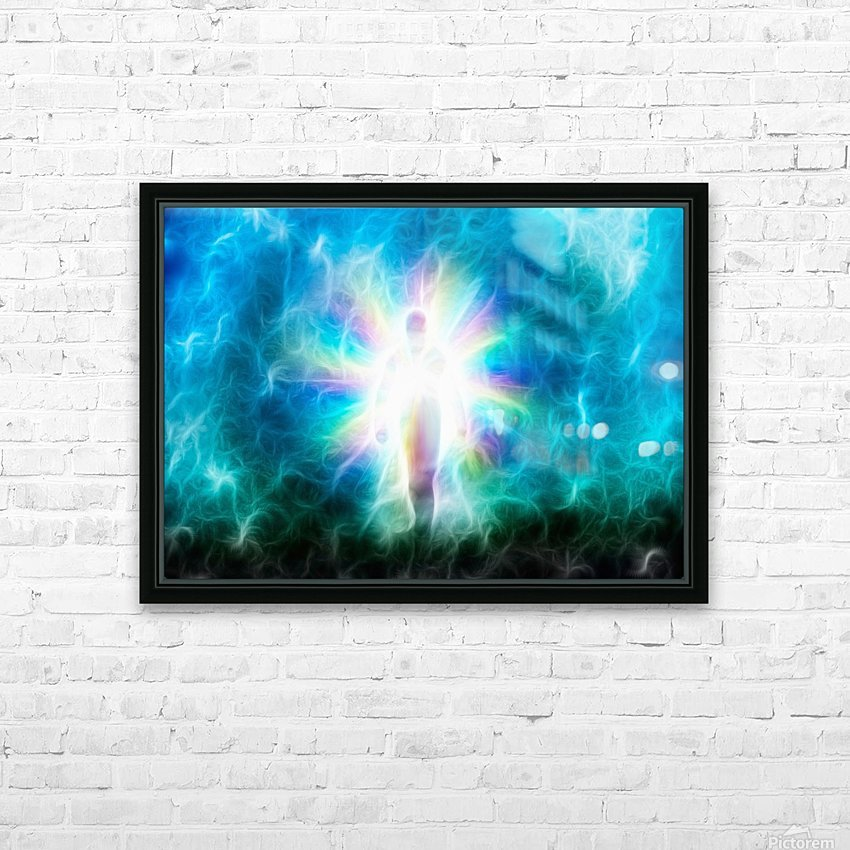 Figure Emerges from Light HD Sublimation Metal print with Decorating Float Frame (BOX)