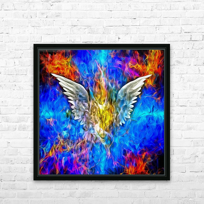 Fallen Angel HD Sublimation Metal print with Decorating Float Frame (BOX)