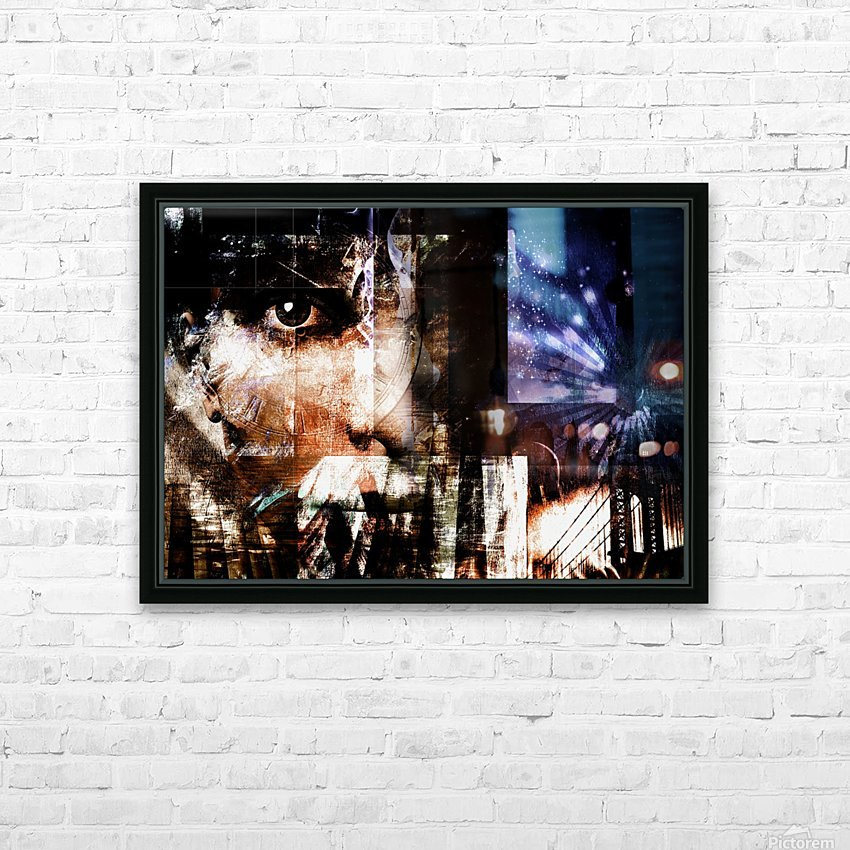 Face Abstract HD Sublimation Metal print with Decorating Float Frame (BOX)