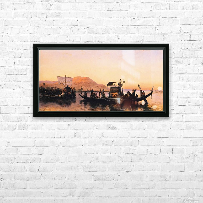 Funeral of a Mummy HD Sublimation Metal print with Decorating Float Frame (BOX)