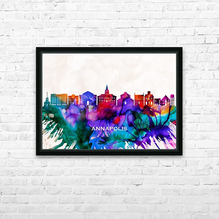 Annapolis Skyline HD Sublimation Metal print with Decorating Float Frame (BOX)
