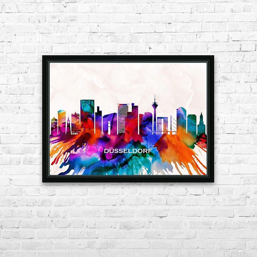 Dusseldorf Skyline HD Sublimation Metal print with Decorating Float Frame (BOX)