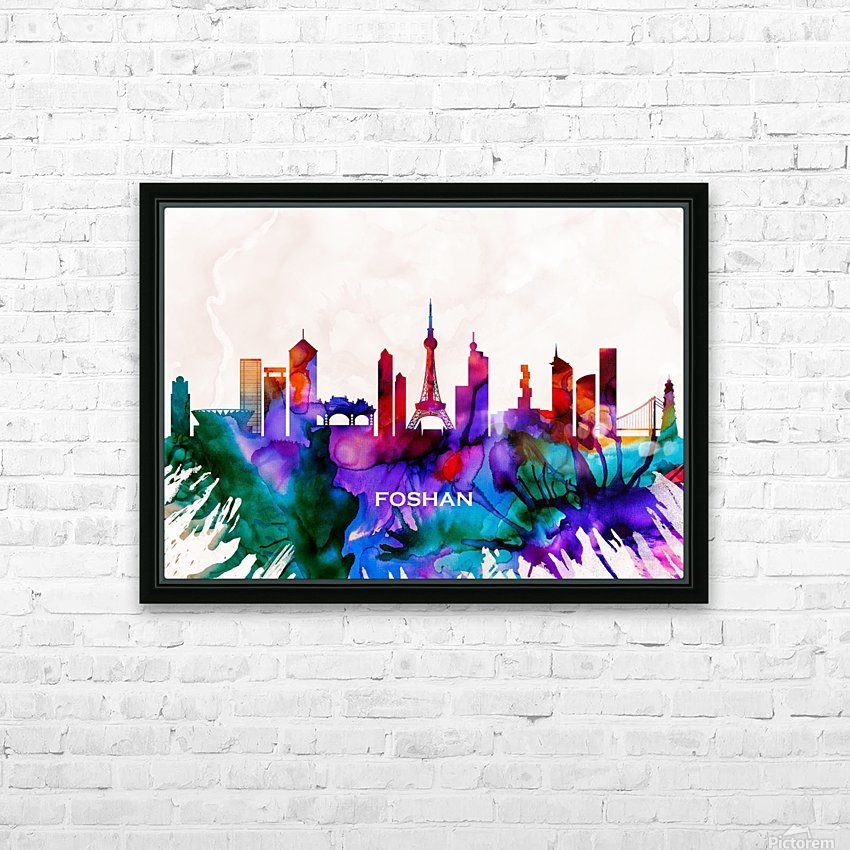 Foshan Skyline HD Sublimation Metal print with Decorating Float Frame (BOX)