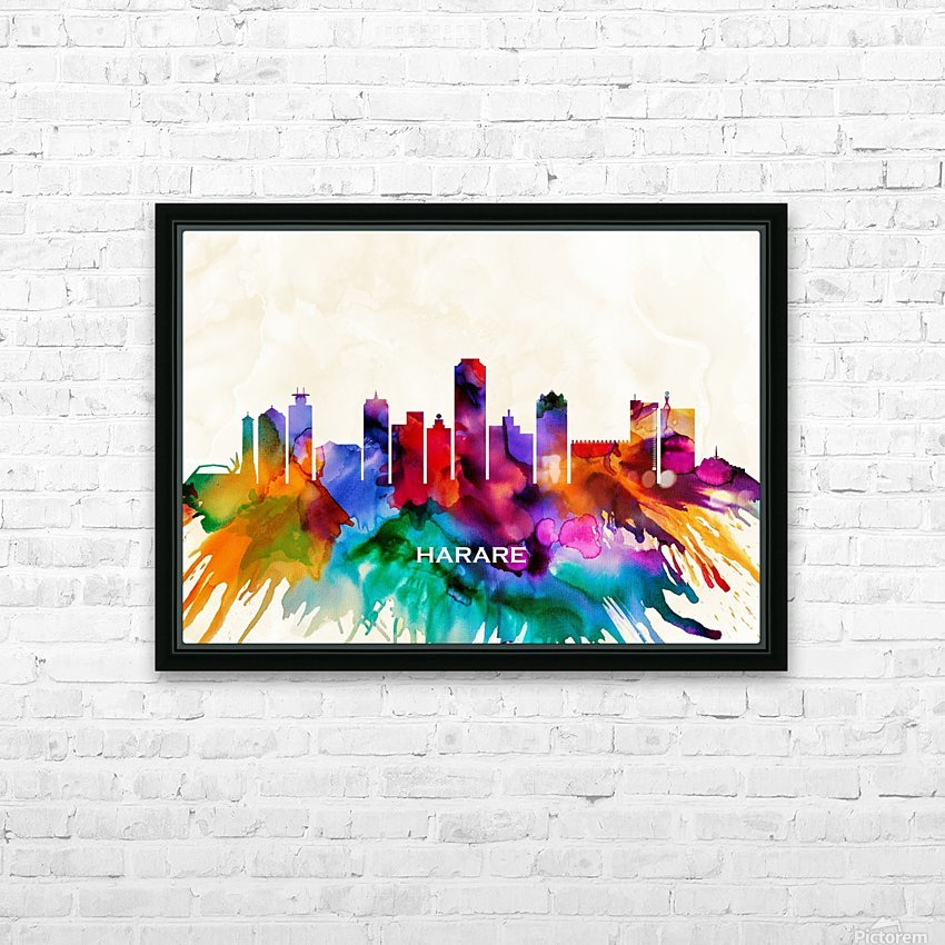 Harare Skyline HD Sublimation Metal print with Decorating Float Frame (BOX)