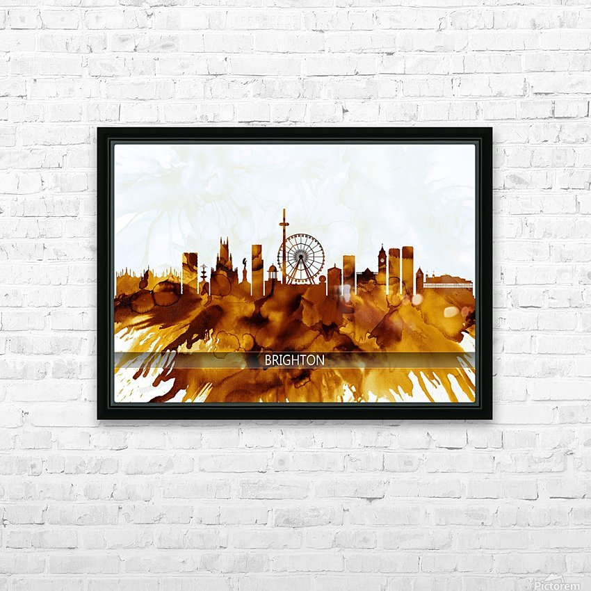 Brighton England Skyline HD Sublimation Metal print with Decorating Float Frame (BOX)
